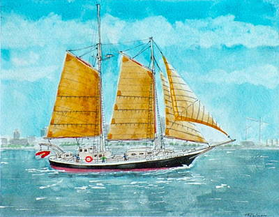 Schooner Spirit Of Independence Poster