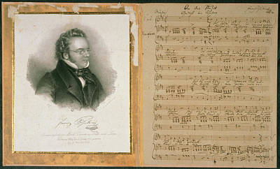Schubert Song And Portrait Poster