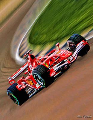 Schumacher Bend Poster by Blake Richards