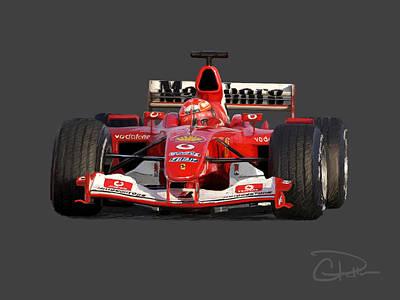 Schumacher - Ferrari F2004 Poster by Charley Pallos