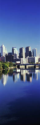 Schuylkill River With Skyscrapers Poster
