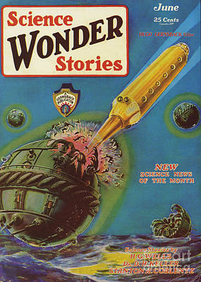 Science Wonder Stories  1929 1920s Usa Poster