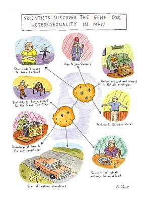 Scientists Discover The Gene For Heterosexuality Poster by Roz Chast