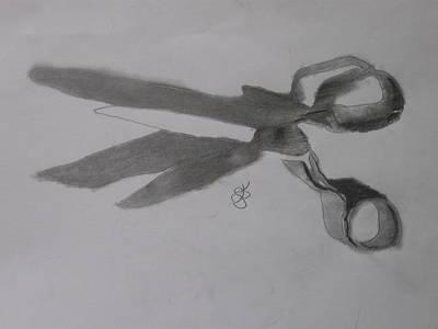 Scissors Poster by AJ Brown