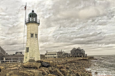 Poster featuring the photograph Scituate Lighthouse by Constantine Gregory