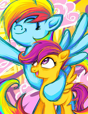 Scootaloo And Rainbow Dash Poster