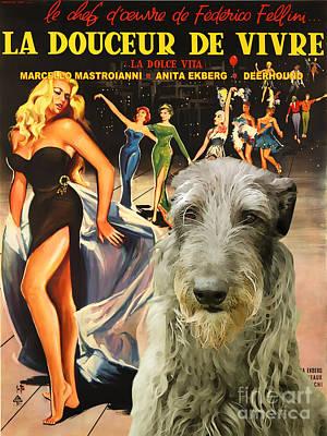Scottish Deerhound Art - La Dolce Vita Movie Poster Poster by Sandra Sij