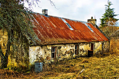 Scottish Highland Croft Poster by Jacqi Elmslie