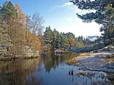 Scottish Loch Near Aviemore Poster by Gill Billington