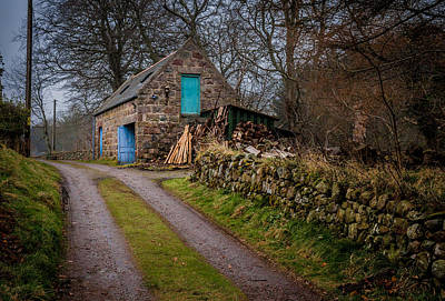 Scottish Stone Barn Poster