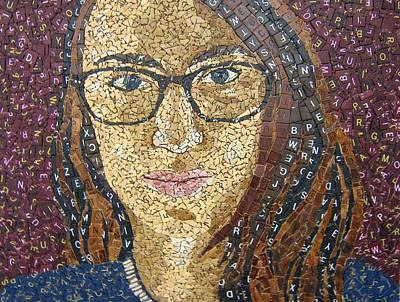 Scrabble Tile Portrait Poster by Monique Sarfity