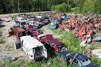 Scrap Metal Dump In Fort Chipewyan Poster