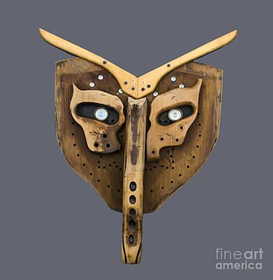 Scrap Wood Mask Poster