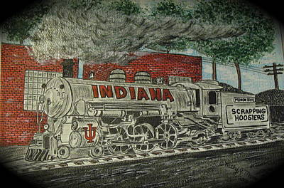 Scrapping Hoosiers Indiana Monon Train Poster