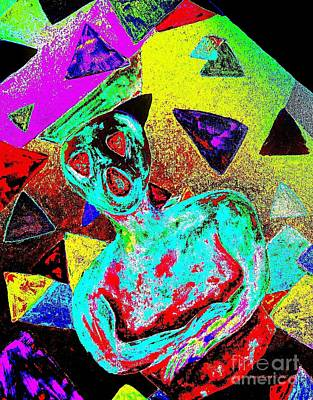 Scream Abstract Art Poster by Annie Zeno