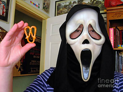 Scream And The Scream Pretzel Poster by Jim Fitzpatrick