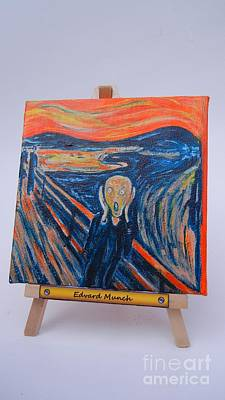 Poster featuring the painting Scream by Diana Bursztein
