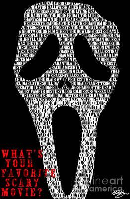 Scream Mask Poster