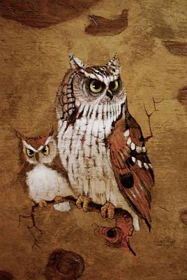 Screech Owls Poster by Richard Hinger