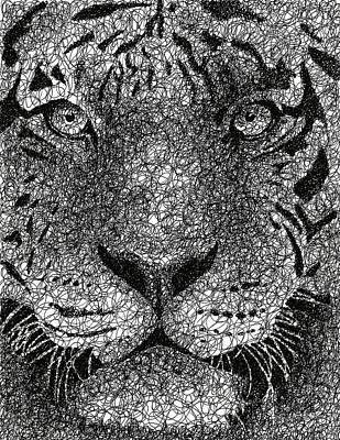 Scribble Tiger Poster