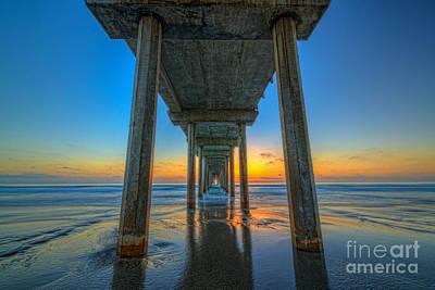 Scripps Pier Sunset Poster