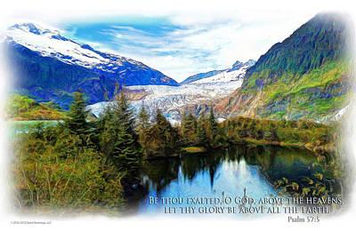 Scripture Art -- Psalm 57-5 Poster
