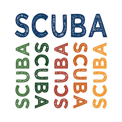Scuba Cute Colorful Poster by Flo Karp