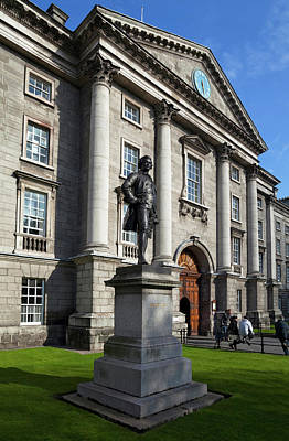 Sculpture Of Edmund Burke In Front Poster by Panoramic Images
