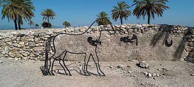 Sculpture Of Horse At Tel Megiddo Poster