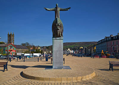 Sculpture Of St Brendan,bantry, County Poster by Panoramic Images