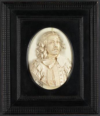 Sculpture, Portrait Of A Man Poster by Litz Collection