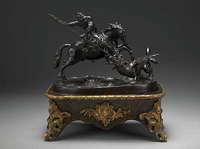 Sculpture, St. George And The Dragon, Francesco Fanelli Poster by Litz Collection