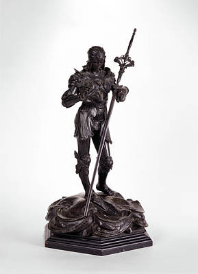 Sculpture, St. George Saint George, Alfred Gilbert Poster by Litz Collection