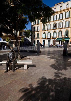 Scupture Of Picasso On The Plaza De La Poster