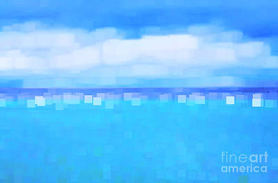 Sea And Sky Abstract Poster by Natalie Kinnear