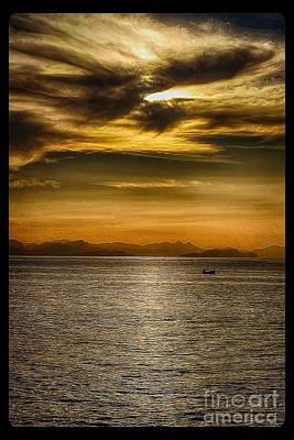 Sea And Sunset In Sicily Poster by Stefano Senise