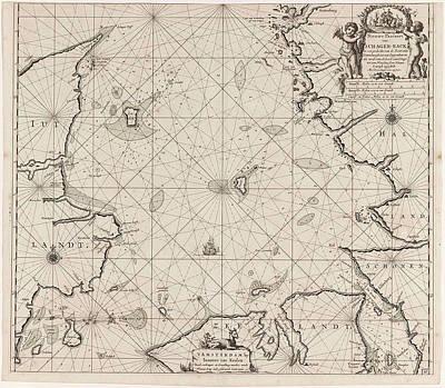 Sea Chart Of Denmark In The Skagerrak And Kattegat Poster