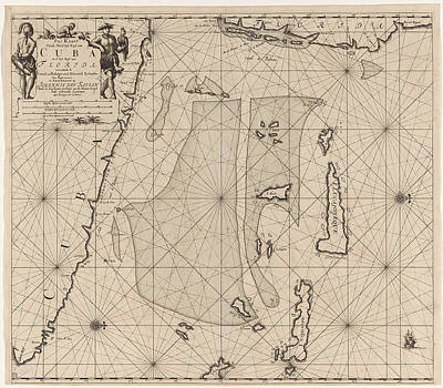 Sea Chart Of Part Of Southeastern Florida And Northeast Poster