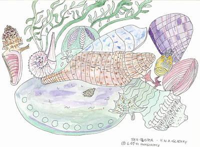 Sea Cluster Poster by Helen Holden-Gladsky