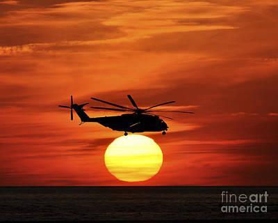 Sea Dragon Sunset Poster