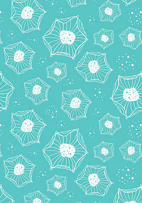 Sea Flower Poster by Susan Claire