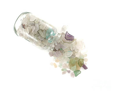 Sea Glass Cornucopia Poster by Jennifer Booher