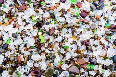 Sea Glass Treasures At Glass Beach Poster
