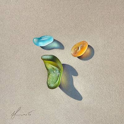 Sea Glass - Trio Poster
