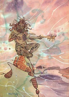 Sea God Guitarist Poster