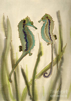 Sea Horses Poster by Addie Hocynec