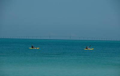 Sea Kayaking Poster by Carolyn Dalessandro