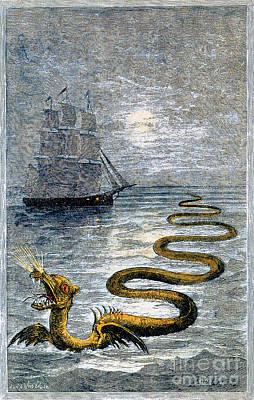 Sea Monster, Legendary Creature Poster by Photo Researchers