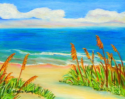 Sea Oat Path Poster by Shelia Kempf