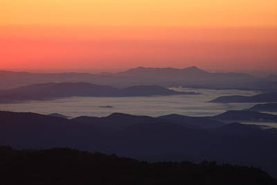 Sea Of Clouds-blue Ridge Mountains Nc Poster